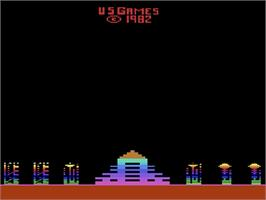 Title screen of M*A*S*H on the Atari 2600.