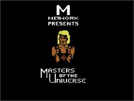 Title screen of Masters of the Universe: The Power of He-Man on the Atari 2600.