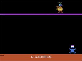 Title screen of Megamania on the Atari 2600.