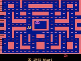 Title screen of Ms. Pac-Man on the Atari 2600.