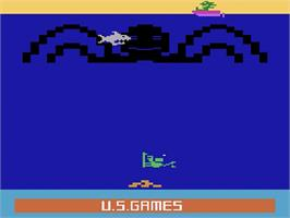 Title screen of Name this Game on the Atari 2600.