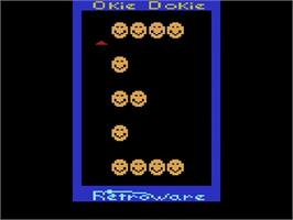 Title screen of Okie Dokie on the Atari 2600.