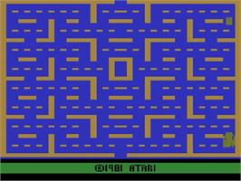 Title screen of Pac-Man on the Atari 2600.