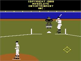 Title screen of Pete Rose Pennant Fever on the Atari 2600.