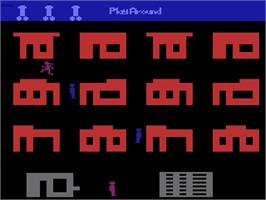 Title screen of Philly Flasher/Cathouse Blues on the Atari 2600.