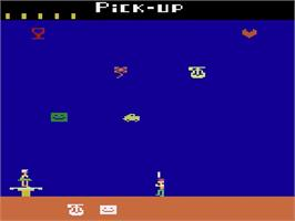 Title screen of Pick Up on the Atari 2600.