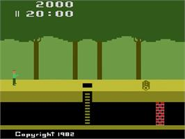 Title screen of Pitfall! on the Atari 2600.