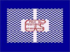 Title screen of Pole Position on the Atari 2600.