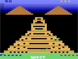 Title screen of Quest for Quintana Roo on the Atari 2600.