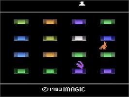 Title screen of Quick Step on the Atari 2600.