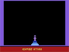 Title screen of Raiders of the Lost Ark on the Atari 2600.