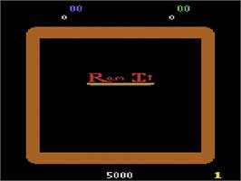 Title screen of Ram It on the Atari 2600.