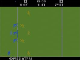 Title screen of RealSports Football on the Atari 2600.