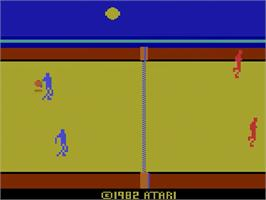 Title screen of RealSports Volleyball on the Atari 2600.