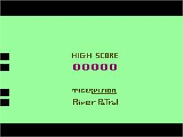 Title screen of River Patrol on the Atari 2600.