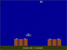 Title screen of River Raid on the Atari 2600.