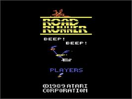 Title screen of Road Runner on the Atari 2600.