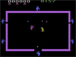 Title screen of Room of Doom on the Atari 2600.