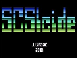 Title screen of SCSIcide on the Atari 2600.