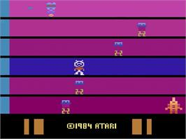 Title screen of Saboteur on the Atari 2600.