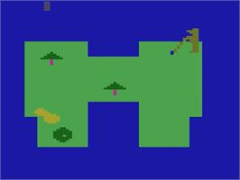 Title screen of Seawolf on the Atari 2600.