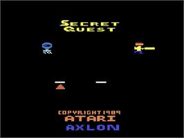 Title screen of Secret Quest on the Atari 2600.