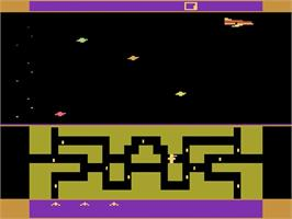 Title screen of Skate Boardin' on the Atari 2600.
