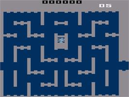 Title screen of Space Cavern on the Atari 2600.