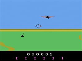 Title screen of Spitfire Attack on the Atari 2600.