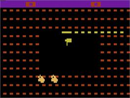 Title screen of Sssnake on the Atari 2600.
