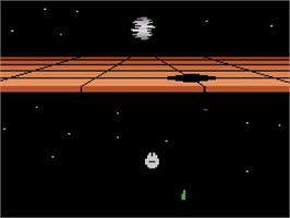 Title screen of Star Wars: Return of the Jedi - Death Star Battle on the Atari 2600.