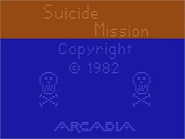Title screen of Suicide Mission on the Atari 2600.