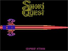 Title screen of SwordQuest: EarthWorld on the Atari 2600.