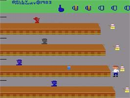 Title screen of Tapper on the Atari 2600.