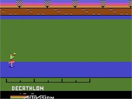 Title screen of The Activision Decathlon on the Atari 2600.