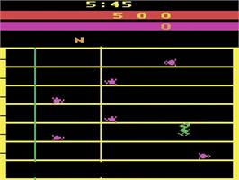 Title screen of The Challenge of NEXAR on the Atari 2600.