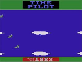 Title screen of Time Pilot on the Atari 2600.