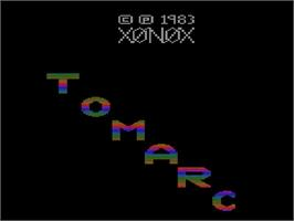 Title screen of Tomarc the Barbarian on the Atari 2600.