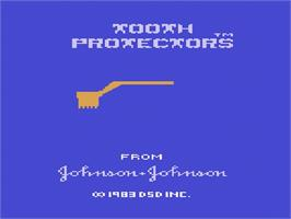 Title screen of Tooth Protectors on the Atari 2600.