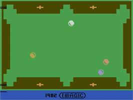 Title screen of Trick Shot on the Atari 2600.