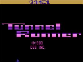 Title screen of Tunnel Runner on the Atari 2600.