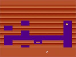 Title screen of Tutankham on the Atari 2600.