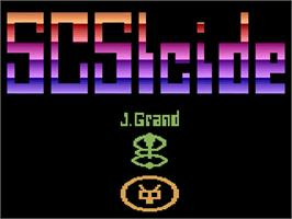 Title screen of Ultra SCSIcide on the Atari 2600.