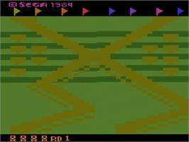 Title screen of Up 'n Down on the Atari 2600.