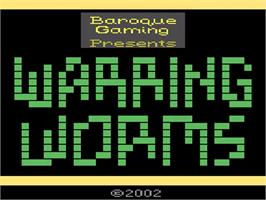 Title screen of Warring Worms on the Atari 2600.