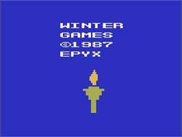 Title screen of Winter Games on the Atari 2600.