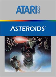 Box cover for Asteroids on the Atari 5200.