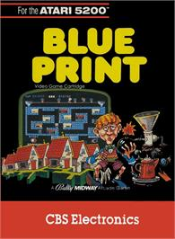 Box cover for Blue Print on the Atari 5200.
