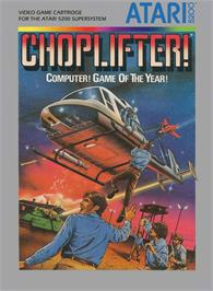 Box cover for Choplifter on the Atari 5200.
