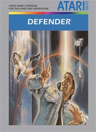 Box cover for Defender on the Atari 5200.
